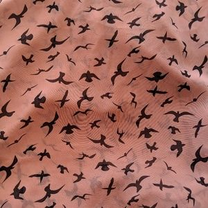 fun 2 fun Tops - Fun 2 Fun Modcloth Dusty Pink Sheer Bird Top 1XL